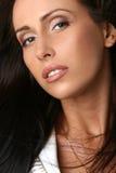 Verticale de plan rapproché de demi de visage de beau femme Images stock