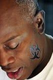 Verticale de plan rapproché d'homme afro-américain Image libre de droits