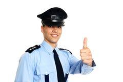 Verticale de policier dans l'uniforme Photos stock