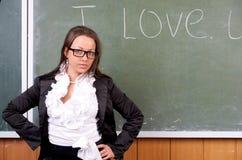 Verticale de professeur féminin attirant Photos stock