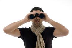 verticale de regard binoche d'homme Images libres de droits