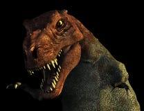 Verticale de Rex de Tyrannosaurus Images libres de droits
