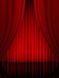 Verticale de rideau en théâtre Photo libre de droits