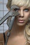 Verticale de sexe blond aux yeux bleus Photos stock