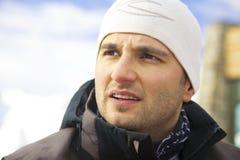 Verticale de skieur Photos libres de droits