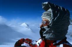 Verticale de skieur Image libre de droits