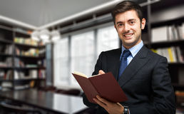 Verticale de sourire d'homme d'affaires Photographie stock libre de droits