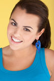 Verticale de sourire de brunette Image libre de droits