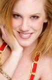 Verticale de sourire de femme Photographie stock