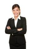 Verticale de sourire de femme d'affaires Photographie stock