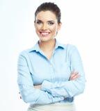 Verticale de sourire de femme d'affaires Images libres de droits