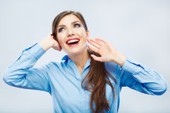 Verticale de sourire de femme d'affaires Photographie stock libre de droits