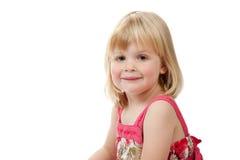 Verticale de sourire de fille de 4 ans Photographie stock libre de droits