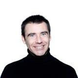 verticale de sourire toothy de œil bleu d'homme Photos libres de droits