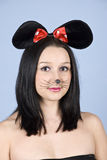 Verticale de souris de femme Image libre de droits