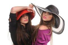 Verticale de studio de belles filles sexy Photo libre de droits