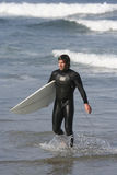 Verticale de surfer Images stock
