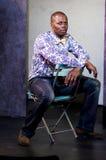 verticale de théâtre d'étape d'acteur d'afro-américain Photo stock