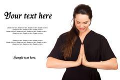 Verticale de thérapeute attirant de massage Photographie stock