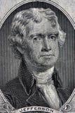 Verticale de Thomas Jefferson Photo stock