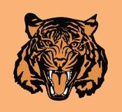 Verticale de tigre illustration de vecteur
