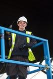 Verticale de travailleur de la construction debout Image stock