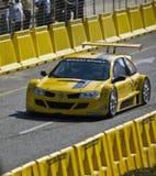 Verticale de trophée de Renault Megane Photographie stock libre de droits