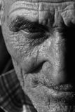 Verticale de vieil homme images libres de droits
