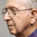 Verticale de vieil homme. Image libre de droits
