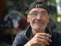Verticale de vieil homme Photo libre de droits