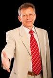 Verticale de vieil homme d'affaires Photo stock