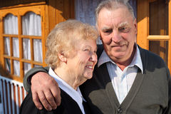 Verticale de vieux couples Photos stock