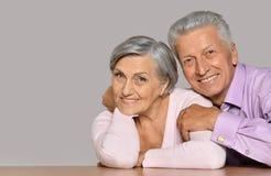 Verticale de vieux couples heureux Image stock