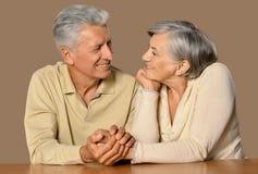Verticale de vieux couples heureux Photos libres de droits