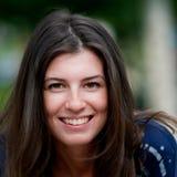 Verticale de visage de Brunette Photographie stock