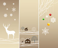 Verticale de winterbanners van de boom Stock Foto's