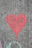 Verticale del cuore del gesso Fotografie Stock Libere da Diritti