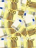 Verticale del fondo dell'euro duecento Fotografia Stock