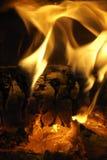 Verticale del fuoco Immagine Stock