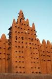 Verticale del minareto sulla moschea di Djenne Fotografia Stock