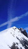 Verticale del picco di montagne della neve di Titlis Immagini Stock