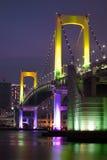 Verticale del ponticello del Rainbow di Tokyo Fotografie Stock