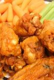 Verticale del upclose delle ali di pollo Fotografie Stock Libere da Diritti