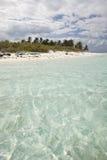 Verticale dell'acqua e dell'isola dei Cays dello Schooner Fotografia Stock