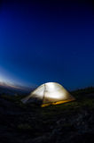 Verticale della tenda di Lit Fotografia Stock Libera da Diritti