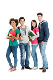 Verticale des étudiants ethniques multi Image libre de droits