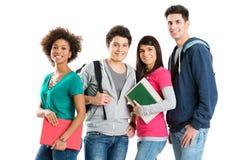 Verticale des étudiants ethniques multi Photos stock