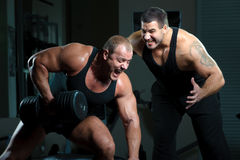 Verticale des bodybuilders Images stock
