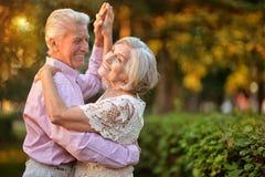 Verticale des couples aînés photo libre de droits