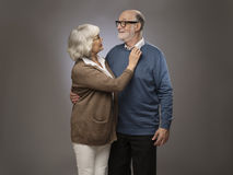 Verticale des couples aînés Image libre de droits